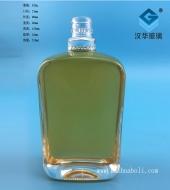 300ml晶白料长方形玻璃酒瓶
