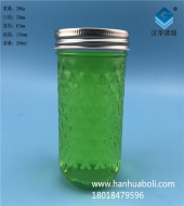 350ml钻石蜂蜜玻璃瓶