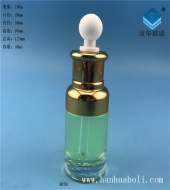 40ml电镀金色胶头滴管玻璃精油瓶