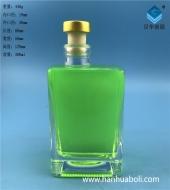 300ml长方形平口牛奶玻璃瓶