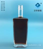 500ml长方形关云玻璃酒瓶