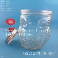 1200ml猫头鹰玻璃蜂蜜瓶