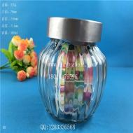 550ml竖条出口玻璃罐