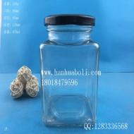 670ml方形辣椒酱玻璃瓶