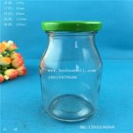 200ml铁盖牛奶玻璃瓶