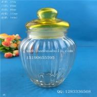 340ml出口竖条密封玻璃罐