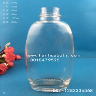 300ml扁形高档玻璃饮料瓶