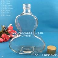 250ml扁葫芦玻璃酒瓶