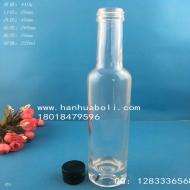 200ml晶白料厚底果酒玻璃瓶