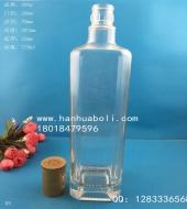 750ml方形橄榄油玻璃瓶