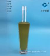 500ml晶料长方形玻璃酒瓶