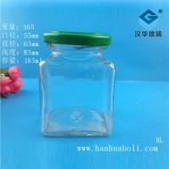 185ml方形蜂蜜玻璃瓶