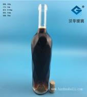 750ml菱形红酒玻璃瓶