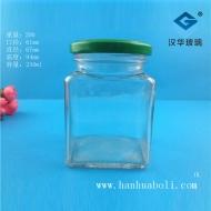 250ml方形蜂蜜玻璃瓶