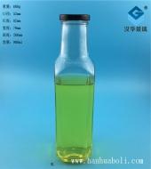 900ml出口方形玻璃饮料瓶