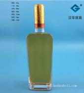 500ml晶白料长方形玻璃酒瓶