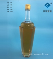 1000ml六棱玻璃酒瓶