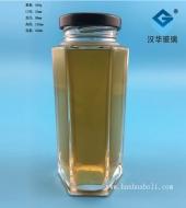 350ml六棱蜂蜜玻璃瓶