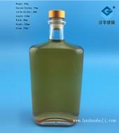 700ml长方形伏特加玻璃酒瓶
