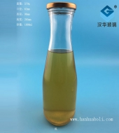 1000ml果汁玻璃饮料瓶