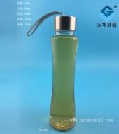 250ml便携式收腰玻璃手提果汁杯